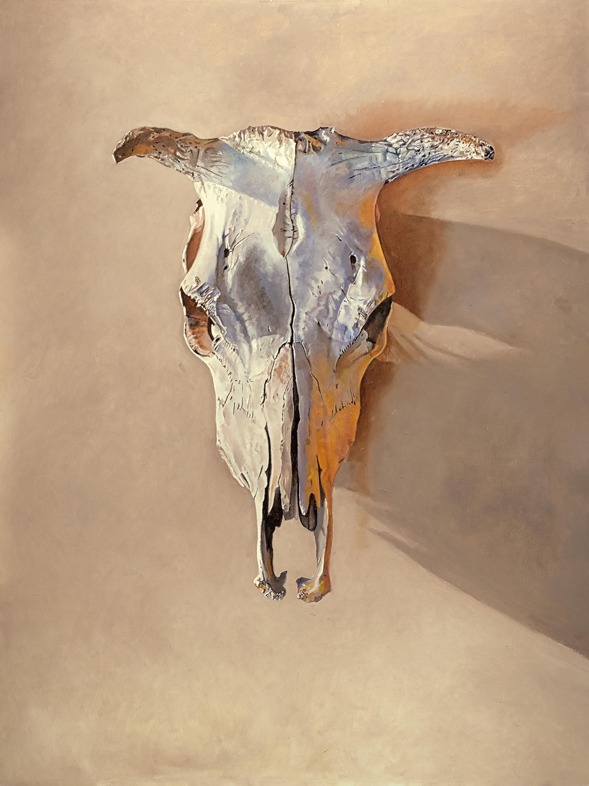 """Rankin's House"" - animal skull painting - realism - Georgia O'Keeffe"