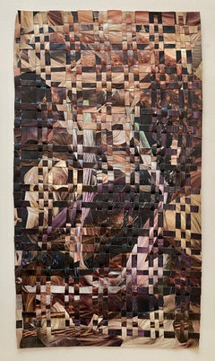 'Hair Weave Woobie (Highlights)' - woven paper collage - Eva Hesse