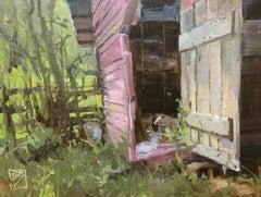 """Left Behind"" - Impressionist Plein Air Landscape Painting - Wyeth"