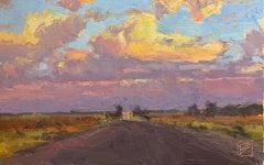 """West Texas Sunset"" - Impressionist Plein Air Landscape Painting - Wyeth"