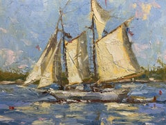 """Wind & Sun"" - Impressionist Plein Air Landscape Painting - Wyeth"