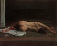 'Hibernation' - figurative painting - realist - nude