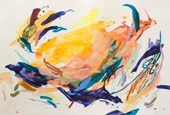 """""""Delicate Persistence"""" - colorful abstract painting - pure abstraction"""