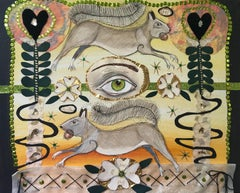 'Blind Folly' - mixed media collage - Southern Art - Marc Chagall