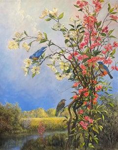 Bird Series: Bluebirds and Blossoms