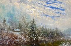 Montana Winter Landscape, Rose Crossing