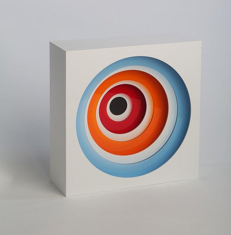 Gregorio Vardanega Abstract Sculpture - Boite à Cercles de Couleurs