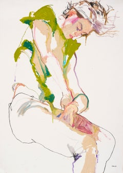 Archival Ink Figurative Drawings and Watercolours