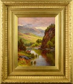 19th Century Scottish Highland oil painting of Loch Katrine