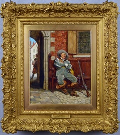 Late 19th Century historical oil painting of a Cavalier soldier