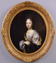 17th Century portrait oil painting of a Lady C1700