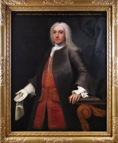 18th Century portrait oil painting of a gentleman