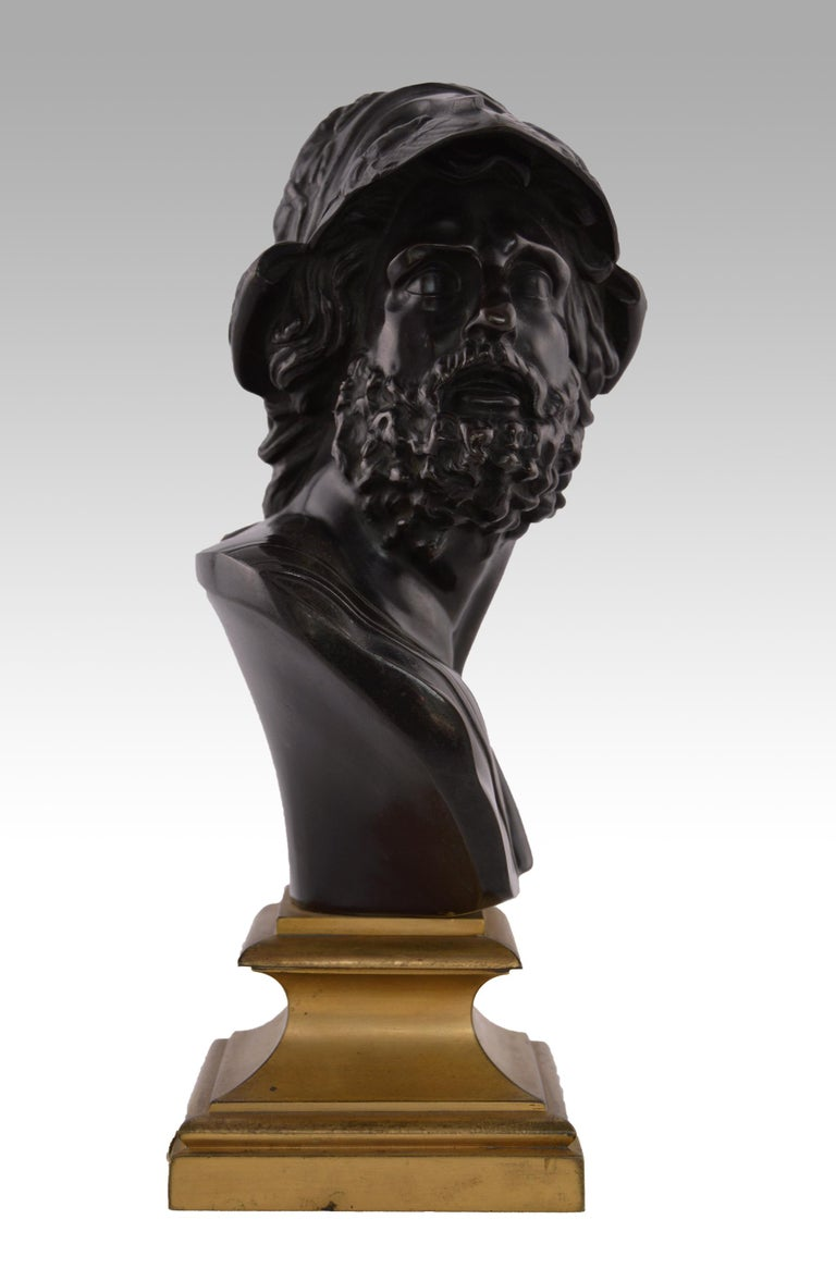 Grand Tour Bronze French, (19th Century) Menelaus, King of Sparta Bronze, stamped with foundry mark for Siot-Decauville, C1890 Height: 11 inches (28cm) Width: 5.5 inches (14cm) Depth: 4.25 inches (11cm)  A fine quality French patinated 19th century