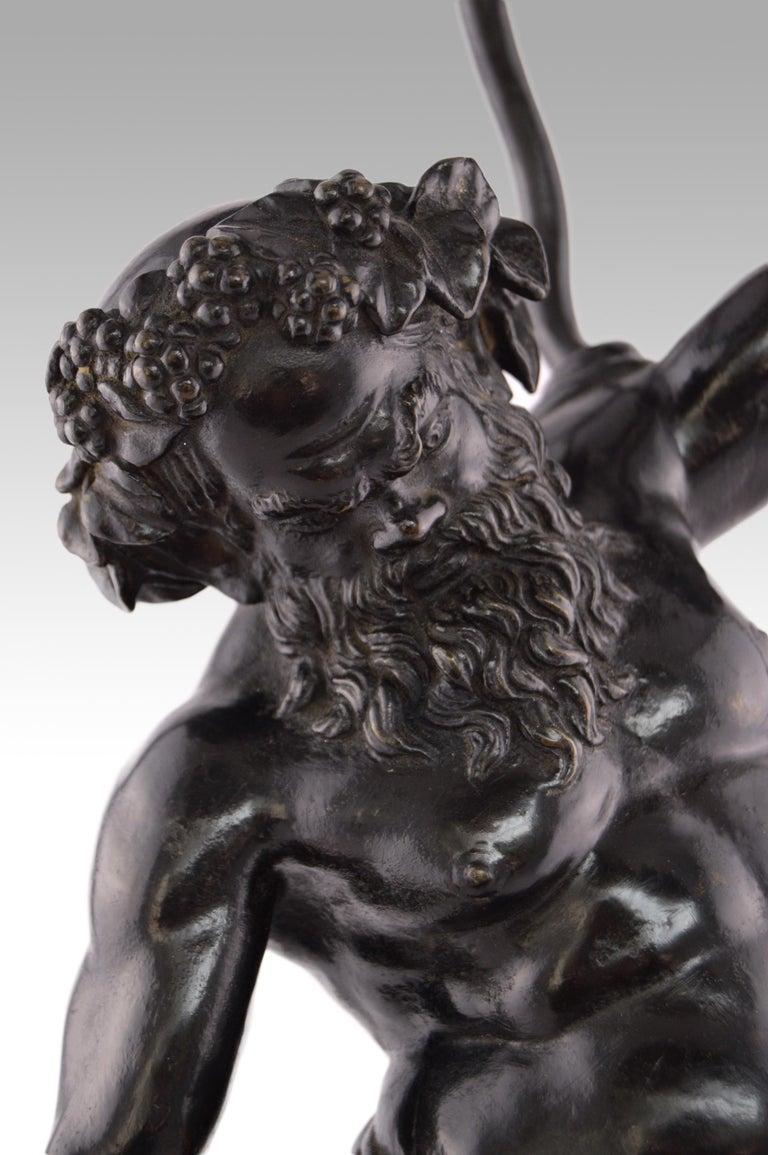 19th Century Italian Grand Tour bronze sculpture of Silenus For Sale 3