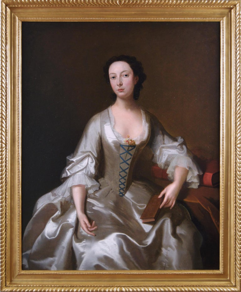 (Circle of) Allan Ramsay Portrait Painting - 18th Century portrait oil painting of a young woman