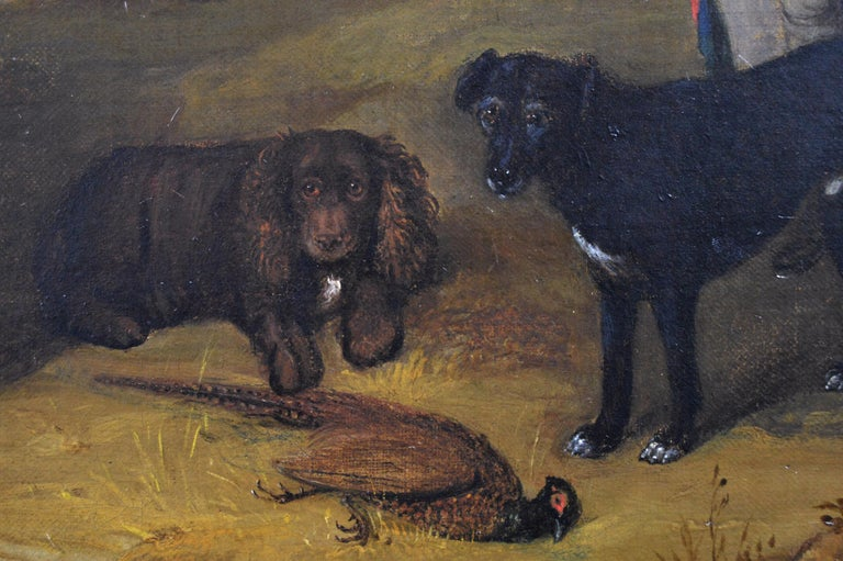 William Smith British, (act. 1813-1859) Gamekeeper with Pony, Dogs & Game Oil on canvas, signed & dated 1831 Image size: 19.5 inches x 23.75 inches  Size including frame: 25.5 inches x 29.75 inches Provenance: Malcolm Innes Gallery, St. James's,