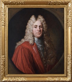 Portrait oil painting of a gentleman in a red robe