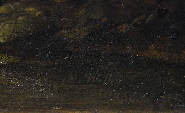 Early 19th Century landscape oil painting of cattle by a river  For Sale 1