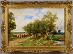 Landscape oil painting of Gloucestershire