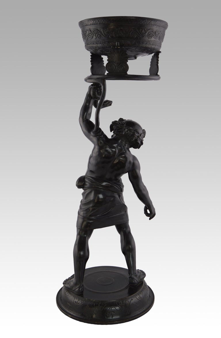Grand Tour Bronze Italian, (19th Century) Silenus Wrestling a Serpent Bronze, stamped with foundry mark for Sommer of Naples, C1880 Height: 26.25 inches (67cm) Width: 9.75 inches (25cm) Depth: 9.75 inches (25cm)  A fine quality Neopolitan Grand Tour