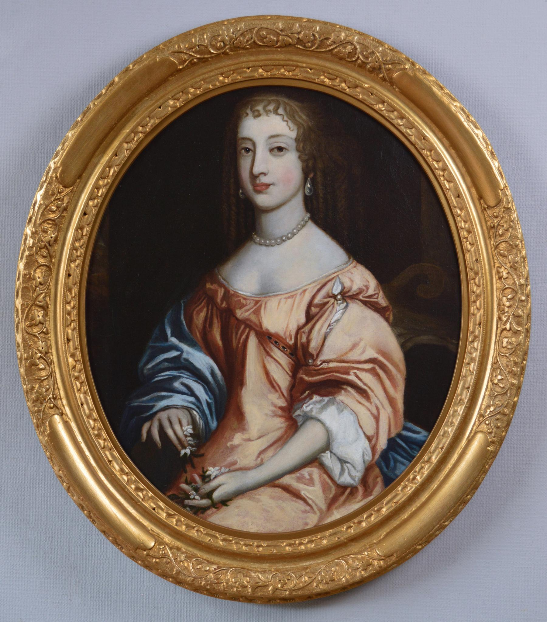 17th Century portrait oil painting of a lady