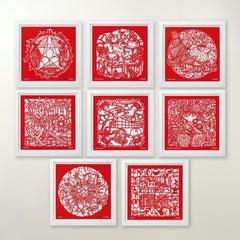 The Papercut Portfolio -Contemporary, 21st Century, Paper, Ai Weiwei, Red, China
