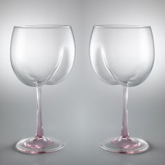 Bum Glasses - Contemporary, 21st Century, Limited Edition, Pink, Murano Glass