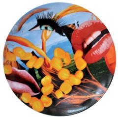 Coupe Plate Lips - Jeff Koons, Contemporary, 21st Century, Porcelain, Tableware