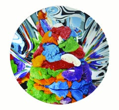 Coupe Plate Play D'Oh - Koons, Contemporary, 21st Century, Porcelain, Tableware