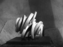 """White Marble&Stainless Sculpture """"Chaos Theory-Conpression"""", 2020"""