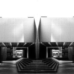 "Black & White Photography ""Brutalism -Barbican Centre, London No15"", 2020"