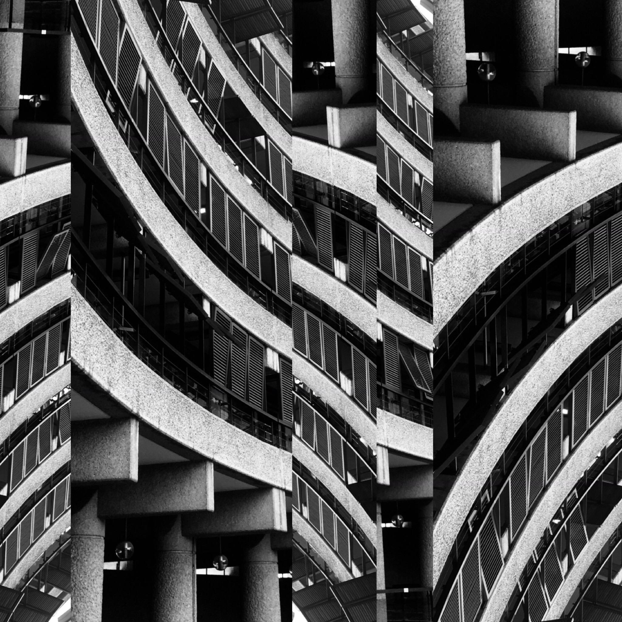 "Black & White Photography  ""Brutalism -Barbican Centre, London No20"", 2020"