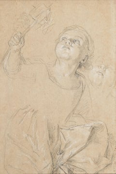 Portrait of Marie Rosalie van Loo Holding a Windmill by Charles-André van Loo