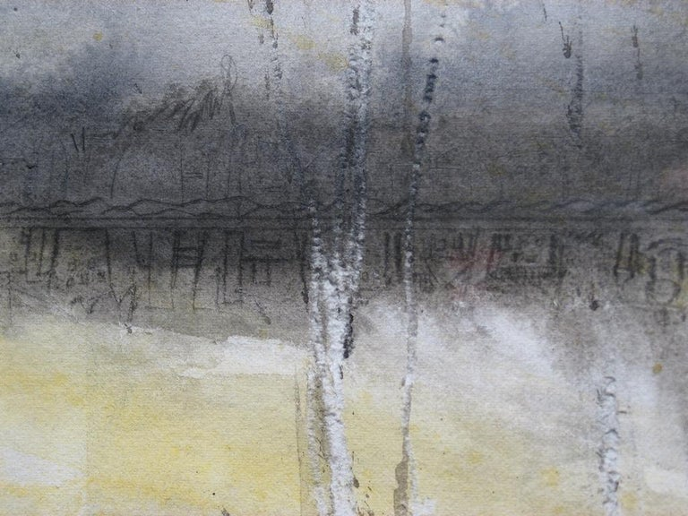 Stratus Twister - Black Abstract Drawing by Judith Brandon