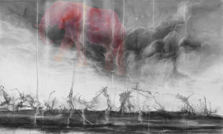 Pink Elephants / No Harm Done - Contemporary Art by Judith Brandon