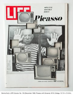 LIFE Cutouts No. 135 (December 1968, Picasso with TV screens)