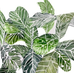 Square Framed Botanical Watercolor by Rachel Kohn - Plant Life #3