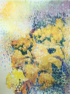 Daffodils Patterned - abstract floral still life with geometric patterns