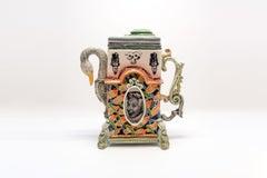 Colorful Ceramic Swan Teapot