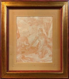 Saint Jerome in the Desert, Prague school sanguine drawing