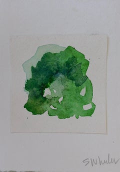 """Flora Green""  Framed Watercolor by S. Wheeler"