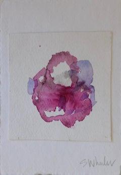 """ Flora Magenta"" Framed watercolor by S. Wheeler"