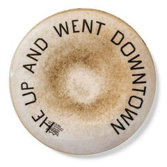 Ed Ruscha, He Up and Went Downtown, Porcelain Plate, 2020