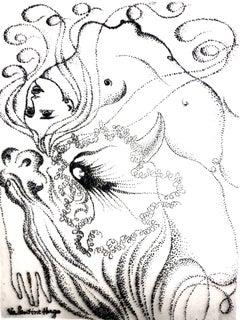 Valentine Hugo - Surrealist Woman - Original Etching