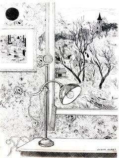 Jacques Maret - Dreamy Desk - Original Etching