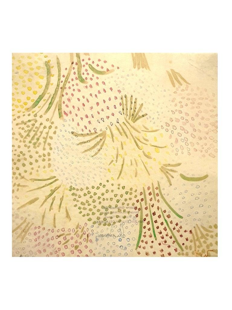 Sonia Delaunay - Original Watercolor on paper - Art by Sonia Delaunay