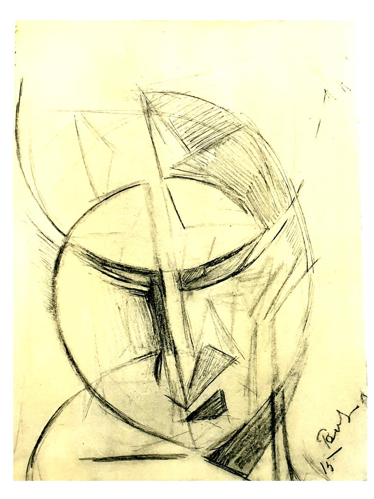 (after) Antoine Pevsner - Face of a Man - Lithograph - Print by Antoine Pevsner