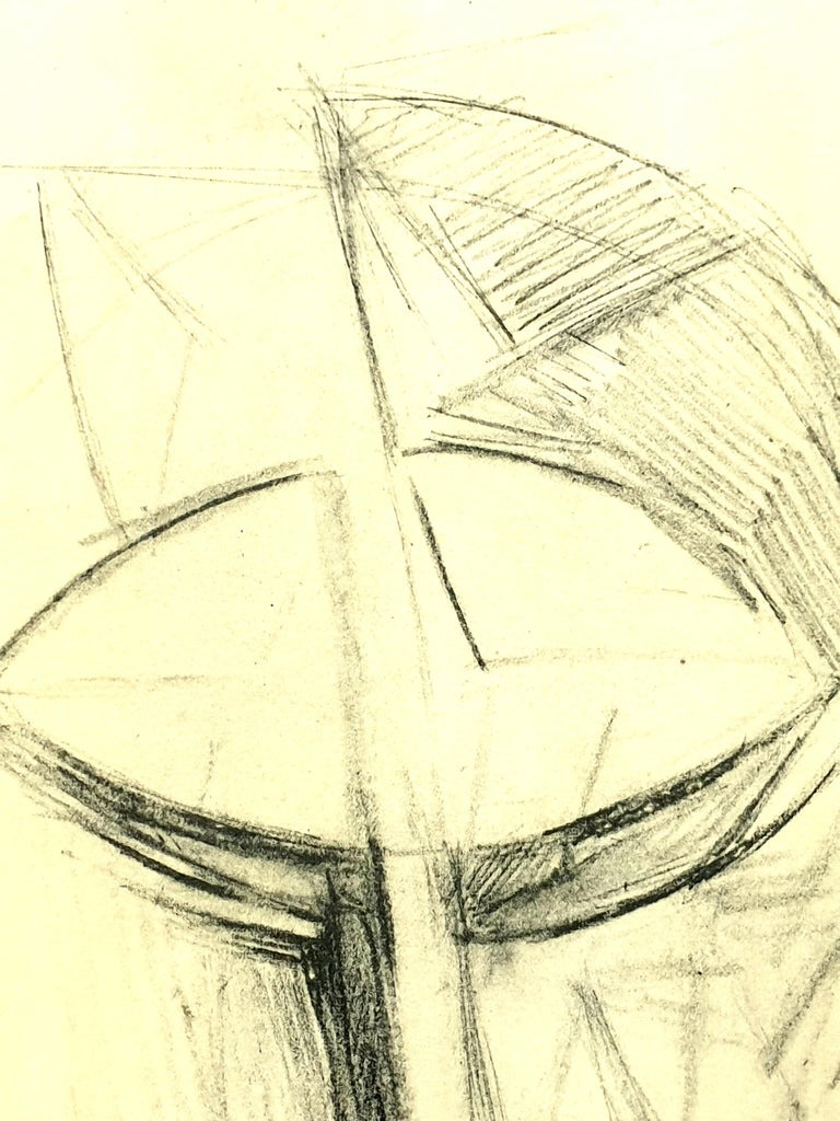 (after) Antoine Pevsner - Face of a Man - Lithograph From the literary review