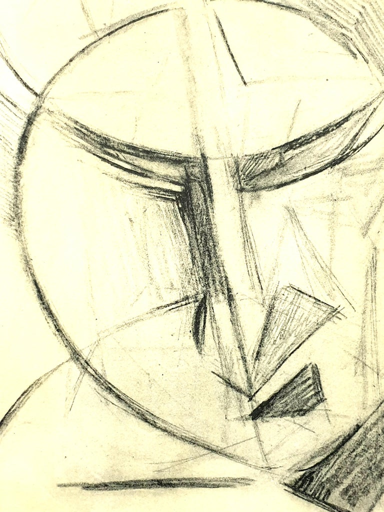 (after) Antoine Pevsner - Face of a Man - Lithograph For Sale 1