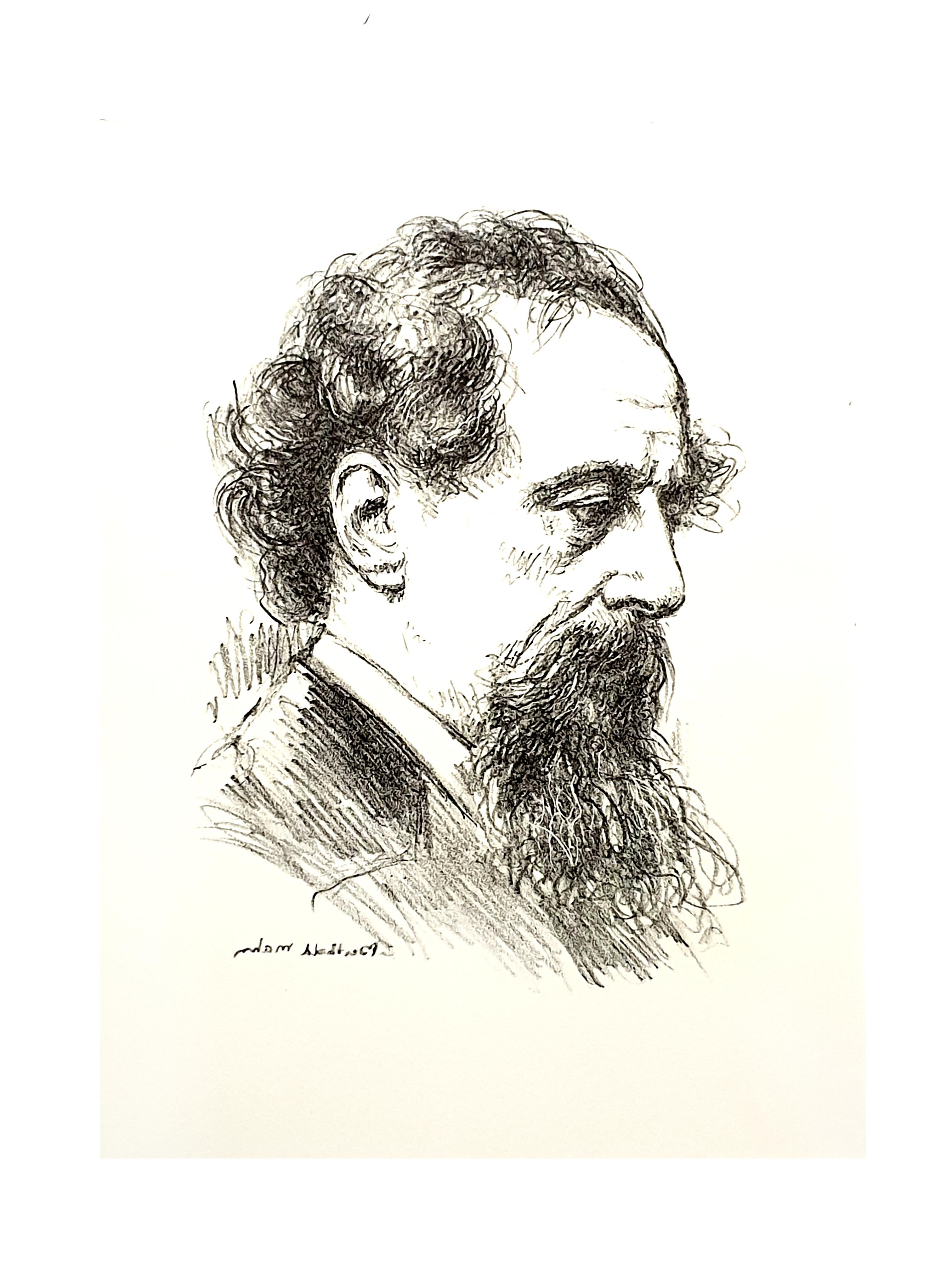 Berthold Mahn - Portrait - Original Lithograph